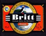 France Bière bretonne Britt Rousse (étiquette neuve)