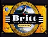 miniature France Bière bretonne Britt Blonde (étiquette neuve)
