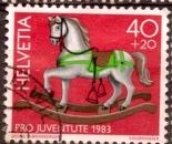 miniature Suisse 1983 YT 1190 Obl Pro Juventute 1983 Cheval a bascule