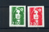 France 2627a 2628a 1/4 Marianne du bicentenaire roulettes N°rouge neuf **TB MNH sin charnela  cote 4
