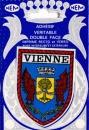 France 38 Vienne - Blason adhésif double face sur carte postale