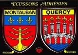 France 82 Montauban - Blasons adhésifs de la ville & du Quercy sur carte postale