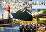 miniature France 83 Toulon- Cpm multivues Entre mer et montagne avec blason