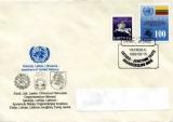 miniature Lituanie 1992 EPJ / FDC Admission des pays baltes à l´ONU - Y&T 423 et 426