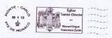 miniature Monaco 2013 Flamme Église Sainte-Dévote - Nouvel Orgue Francesco Zanin sur lettre entière