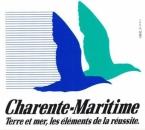 France 17 Charente-Maritime - Autocollant Logotype Terre et mer, les éléments de la réussite.