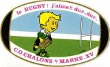 France 51 Châlons-sur-Marne 1989 - Autocollant rugby C.O. Châlons-sur-Marne XV