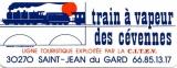 France 30 Saint-Jean du Gard 1988 - Autocollant Train à vapeur des Cévennes