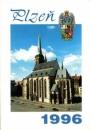 miniature Tchécoslovaquie 1996 Calendrier de poche ville de Plzen