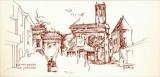 miniature France 11 Armissan - Carte postale La place (dessin de Jean-Pierre Gautier) de 1985