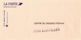 miniature France 1990 - Enveloppe du Centre de Chèques Postaux de Montpellier