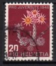 Suisse - 1946 -  n°435 (YT) Pour la jeunesse : fleur : joubarbe    (O)