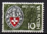 Suisse - 1963 -  n°706 (YT) Centenaire du Club Alpin     (O)