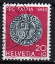 Suisse - 1964 -  n°732 (YT) Pour la patrie : double gros d'argent de Bâle     (O)