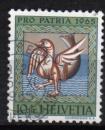 Suisse - 1965 -  n°748 (YT) Pour la patrie : animal fabuleux      (O)