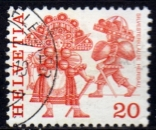 Suisse - 1977 -  n°1035 (YT) Coutumes populaires    (O)