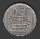 FRANCE - PIECE DE 10 FRANCS - TURIN EN ARGENT DE 1932