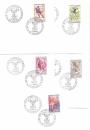 miniature J.O. GRENOBLE 1968 / FDC N°1543 à 1547 / sur lettre