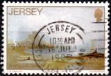 miniature Jersey.1987.N° 416 (o).Artistes- John le Capelain -