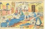 miniature Cpa Humour troupier , la journée du soldat ,  voyagée 1914