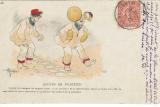 miniature Cpa Humour troupier , motifs de punition ,  voyagée 1906