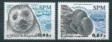 miniature Saint Pierre et Miquelon 789 790 phoques mammifère neuf ** TB MNH SIN charnela prix de la poste 1.33