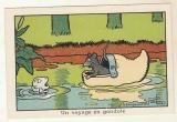 Image Benjamin Rabier poisson , souris Voyage en gondole   pub Phosphate Vital  jacquemaire