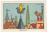 Image Benjamin Rabier   Equitation Coq de clocher , chats   pub Verrulyse Jacquemaire