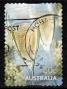 Australie - 2011 - n°3386 (YT)  Timbres de message : Saint-Valentin , verres de champagne  (O)