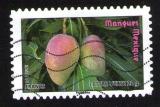 Timbre Oblitéré Carnet Des fruits pour une lettre verte Mangues MEXIQUE Lettre Verte FRANCE