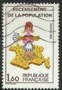 miniature France 1982 - 2202a oblitéré - Variété - Sans le chiffre 7 sur la Corse .