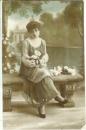 miniature Cpa Patriotique Femme , ww1 , carte à son mari ,  voyagée 1916 * chère marcelle