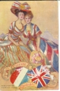 miniature Cpa  Patriotique , ww1 , The entente cordiale franco british ,  non voyagée
