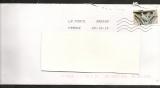 France 2013 timbre issu du carnet art gothique oblitéré sur lettre