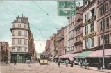 CPA LE HAVRE (76) LA RUE DE PARIS - BELLE ANIMATION - TRAMWAY