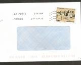 France 2013 Timbre issu du carnet Patrimoine Carcassonne sur lettre