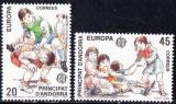 miniature Andorre (Espagne) 1989 Europa - Jeux d'enfants YT 199-200 **