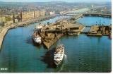 miniature Cpm 62 Boulogne sur mer , vue générale sur le port et les car-ferry , voyagée 1973