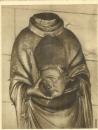 miniature Cpa 27 Verneuil ,église de la madeleine * statue en bois st denis , non voyagée