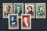 miniature France  891 896 1/4 de cote Hommes célèbres du XIX 1951 neuf ** TB MNH sin charnela cote 60
