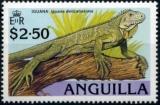miniature Anguilla 1989 L´iguane des Petites Antilles (Iguana delicatissima) YT 728 **