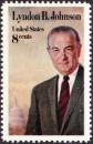 miniature USA 1973 Lyndon B. Johnson (1908-1973), 36e président des USA