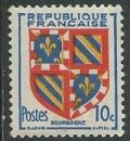 miniature France - Y&T 0834 (*) - Armoiries de Bourgogne -