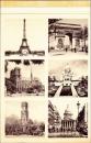 miniature France 75 Paris - Carte-lettre souvenir Monuments de Paris bilingue français-anglais