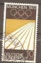 miniature Allemagne RFA 1969 YT 450 Jeux Olympiques 1972 Munich Piste cendree