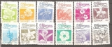 miniature Nicaragua 1983 YT 1248-1263 12 Fleurs
