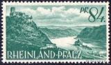 miniature Rhénanie-Palatinat 1947 Châteaux de Gutenfels et Pfalzgrafenstein à Kaub am Rhein Y&T 14 **