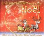 France L´Alsacienne sans culotte - Bière de Noël (fond rouge)