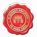 miniature République tchèque 2013 Sous-bock bière Plzensky Prazdroj (texte au dos en polonais)