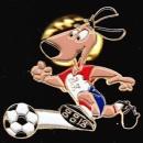 France Pin's Snickers, mascotte de la Coupe du Monde de Football 1994 aux USA